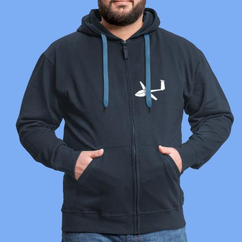 Segelflieger T-Shirt Segelflugzeug PIK20 - Men's Premium Hooded Jacket