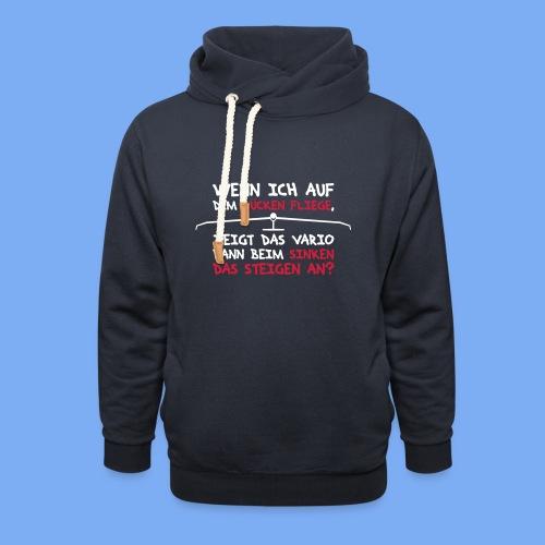 Segelflieger T-Shirt lustiger Spruch Geschenk Motor - Shawl Collar Hoodie