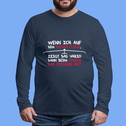 Segelflieger T-Shirt lustiger Spruch Geschenk Motor - Men's Premium Longsleeve Shirt