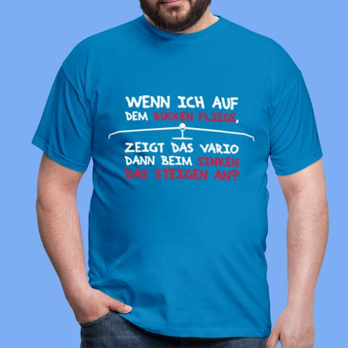 Segelflieger T-Shirt lustiger Spruch Geschenk Motor - Men's T-Shirt
