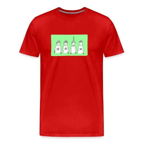 Handy (mit Text) - Männer Premium T-Shirt