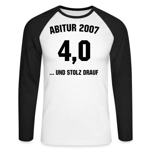 Abitur 2007 und stolz drauf... - Männer Baseballshirt langarm