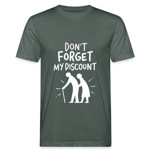 Don't forget my Discount - Männer Bio-T-Shirt