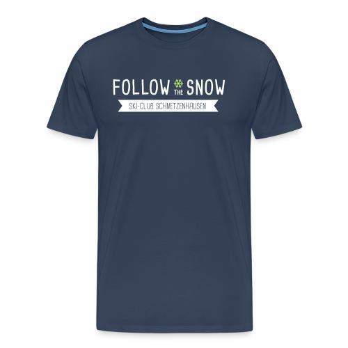 Follow the snow - Männer T-Shirt Digitaldruck - Männer Premium T-Shirt