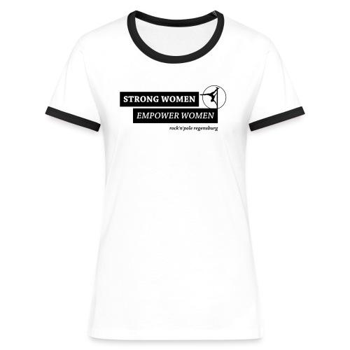 Strong Women Kontrast Shirt - Frauen Kontrast-T-Shirt