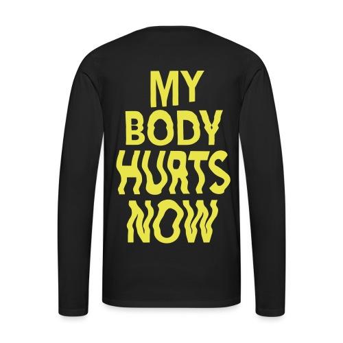 Body hurts long black yellow - Men's Premium Longsleeve Shirt