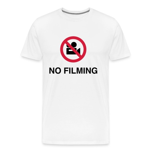 No filming white front print - Men's Premium T-Shirt