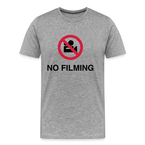 No filming grey front print - Men's Premium T-Shirt
