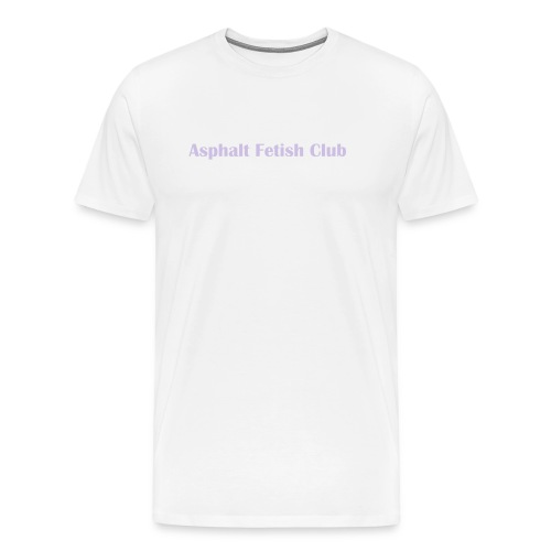 Asphalt white with purple print - Men's Premium T-Shirt