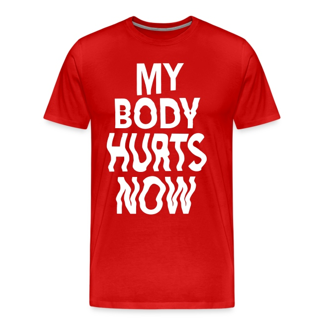 Body hurts tee red