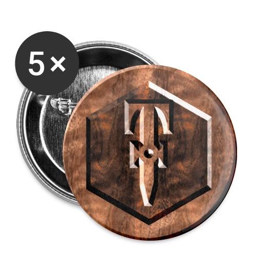 Wood Pins - Buttons medium 1.26/32 mm (5-pack)