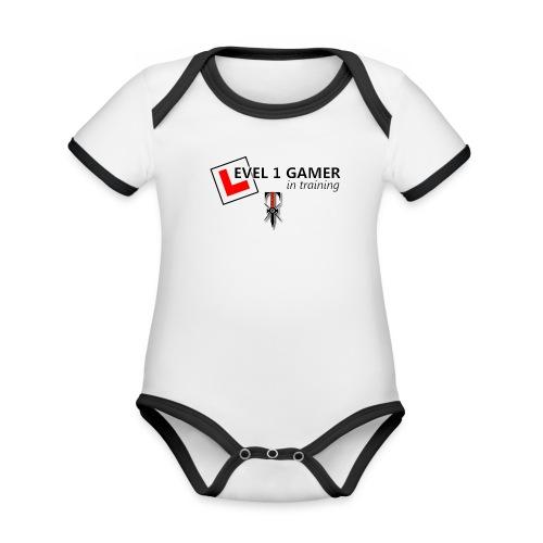 Baby Onesie - Level 1 Gamer - Organic Baby Contrasting Bodysuit