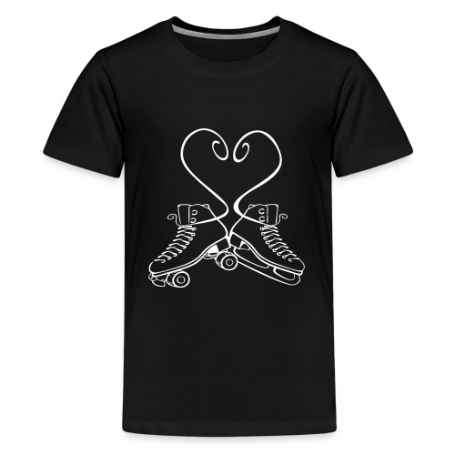 Teenager Shirt Rollkunstlauf & Eiskunstlauf Senkel - Teenager Premium T-Shirt