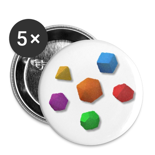 PolyDice Pin - Buttons medium 1.26/32 mm (5-pack)