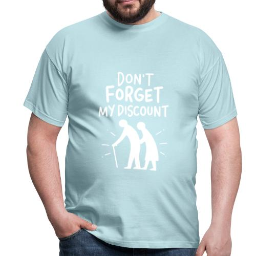 Männer T-Shirt - Wir werden alle Älter und die Renten? Gut, dass man die Kassiererin dezent auf den Sachverhalt aufmerksam machen kann