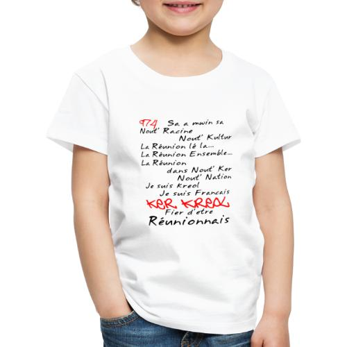 T-shirt Premium Enfant Kosement Kreol - T-shirt Premium Enfant