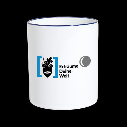 Erträume Deine Welt Logo (ganzes Logo) Tasse - Tasse zweifarbig