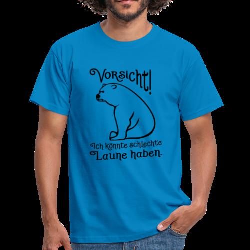 Vorsicht Schlechte Laune Bär T-Shirt - Männer T-Shirt