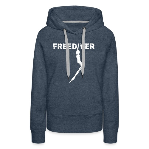 Freediver Damen Hoodie Jeans Blau - Frauen Premium Hoodie