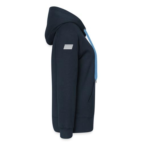 MTCT The Captain Fleece Zip Hoodie - Navy Women - Women's Premium Hooded Jacket