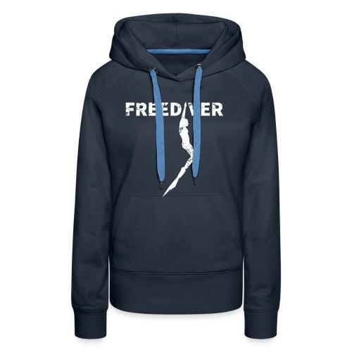 Freediver Damen Hoodie Navy - Frauen Premium Hoodie