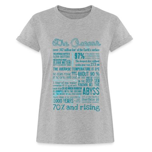 Ocean Facts (Girls - heather) - Frauen Oversize T-Shirt