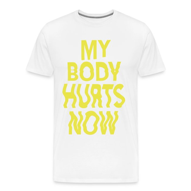 Body white tee yellow print
