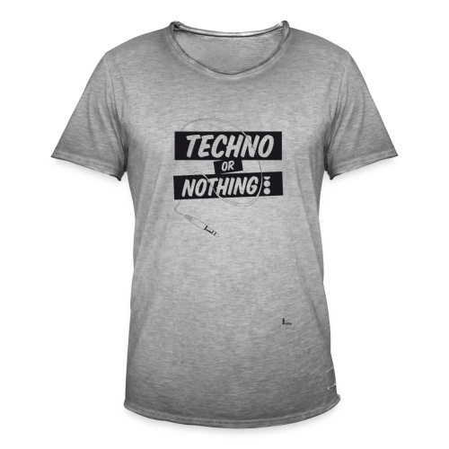 Techno or nothing - Maglietta vintage da uomo