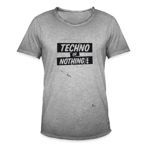 Techno or nothing - Maglietta vintage da uomo