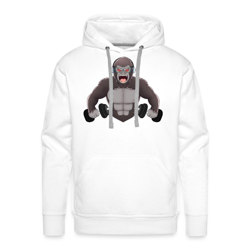 Gorilla mit Hanteln │ Herren Pullover - Männer Premium Hoodie