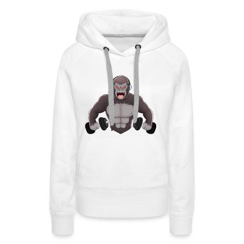 Gorilla mit Hanteln │ Damen Pullover - Frauen Premium Hoodie
