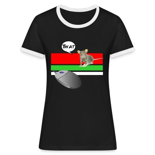 Girls 'Retro Mouse' - Women's Ringer T-Shirt