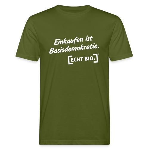 Einkaufen is Basisdemokratie - Männer Bio-T-Shirt