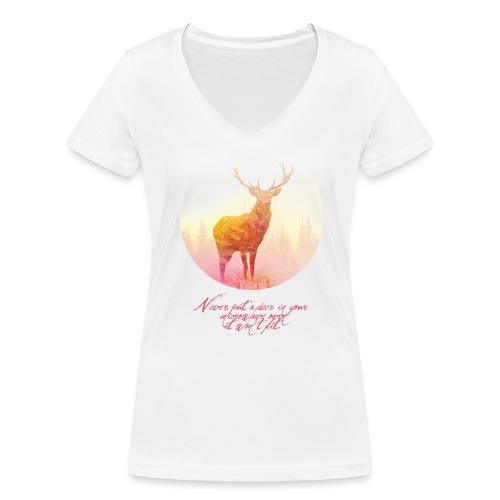 Deer vrouwen v-hals bio - Vrouwen bio T-shirt met V-hals van Stanley & Stella