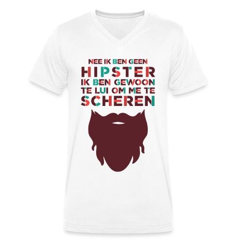 Hipster mannen v-hals bio - Mannen bio T-shirt met V-hals van Stanley & Stella