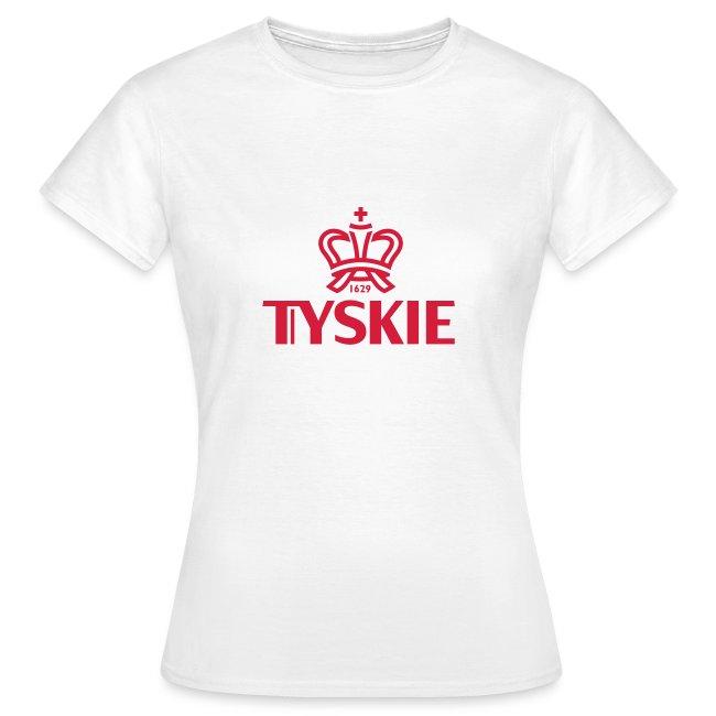 Tyskie Logo-Shirt (weiß/Damen)