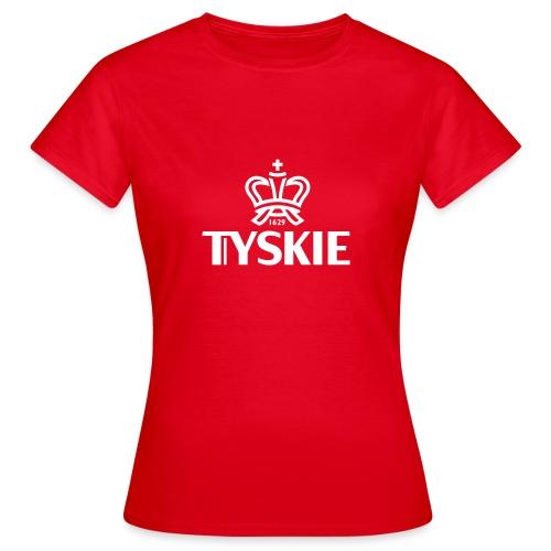 Tyskie Logo-Shirt (rot/Damen) - Frauen T-Shirt