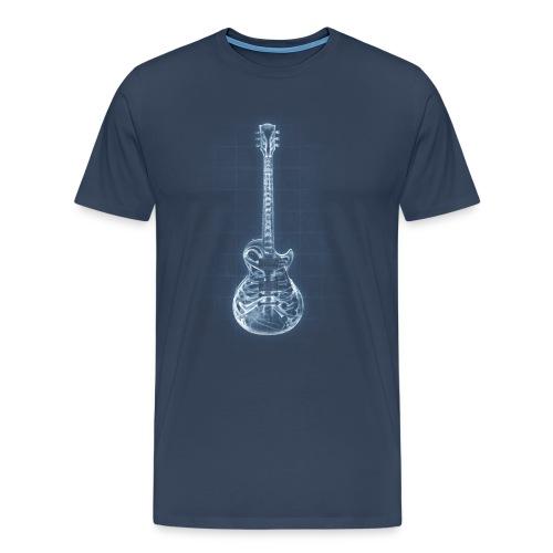 Anatomy of Heart Rock - Navy - Männer Premium T-Shirt