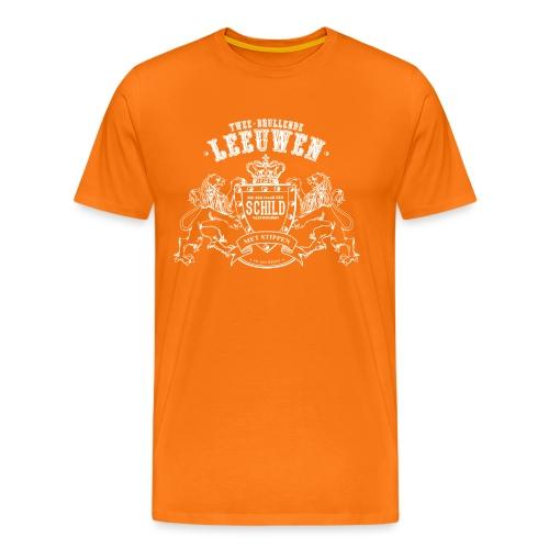Brullende leeuwen mannen premium - Mannen Premium T-shirt