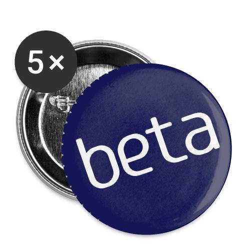 Beta-Buttons - Buttons klein 25 mm
