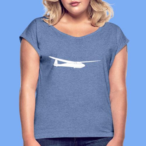 ka2b Segelflugzeug Segelflieger Flieschen Bekleidung Shop T-Shirt Geschenkidee - Women's T-Shirt with rolled up sleeves