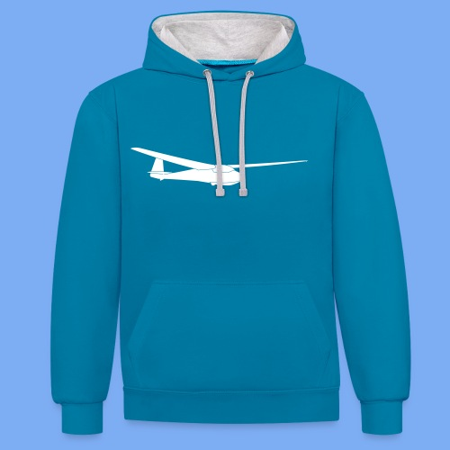 ka2b Segelflugzeug Segelflieger Flieschen Bekleidung Shop T-Shirt Geschenkidee - Contrast Colour Hoodie