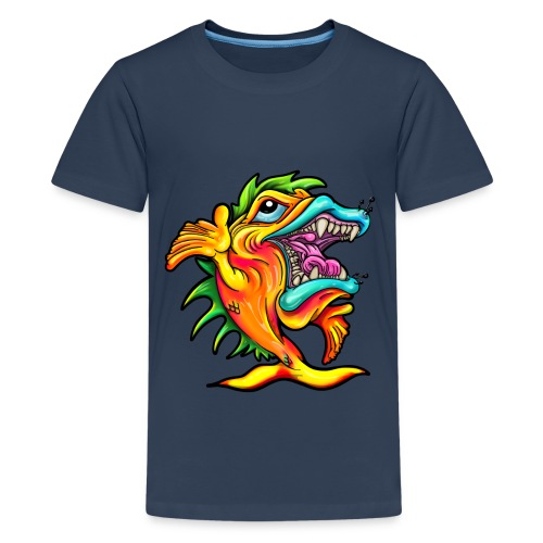 Rock and Roll Singing Fish - Teenage Premium T-Shirt