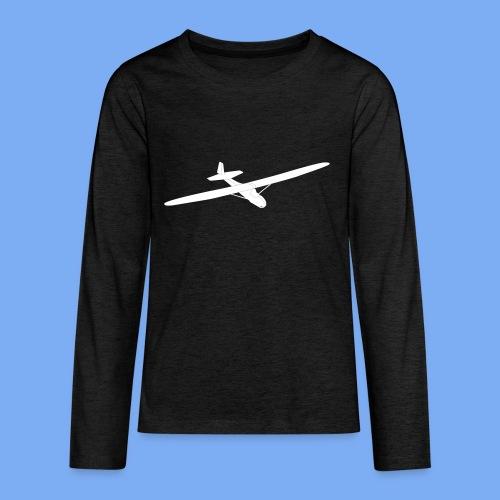 Grunau Baby 2 Segelflugzeug Segelflieger Geschenk Tshirt - Teenagers' Premium Longsleeve Shirt