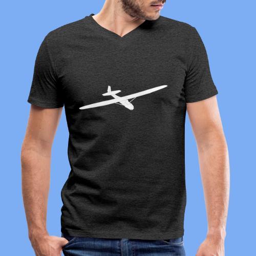 Grunau Baby 2 Segelflugzeug Segelflieger Geschenk Tshirt - Men's Organic V-Neck T-Shirt by Stanley & Stella