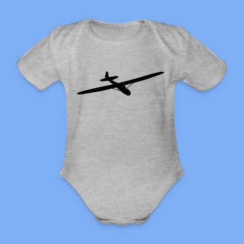Grunau Baby 2 Segelflugzeug Segelflieger Geschenk Tshirt - Organic Short-sleeved Baby Bodysuit
