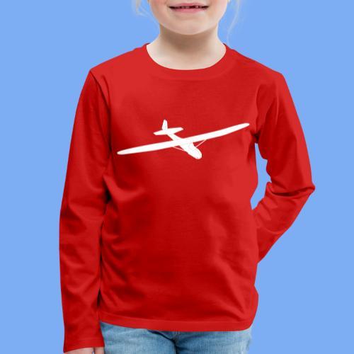 Grunau Baby 2 Segelflugzeug Segelflieger Geschenk Tshirt - Kids' Premium Longsleeve Shirt