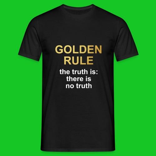 Golden rule heren t-shirt - Mannen T-shirt
