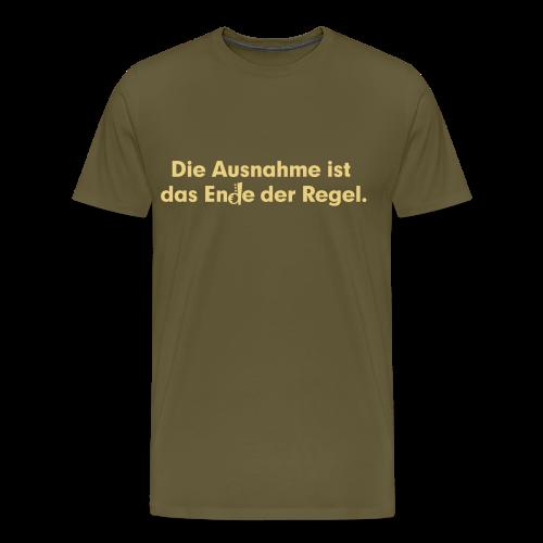 Ausnahme - Männer Premium T-Shirt