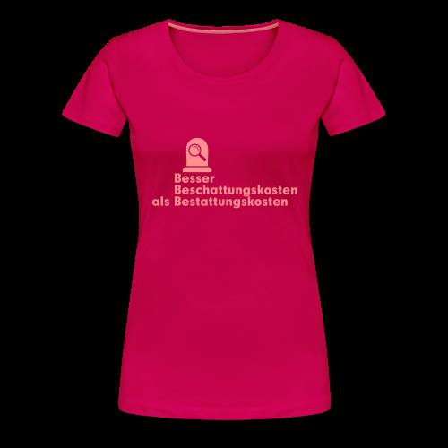 Beschattung - Frauen Premium T-Shirt